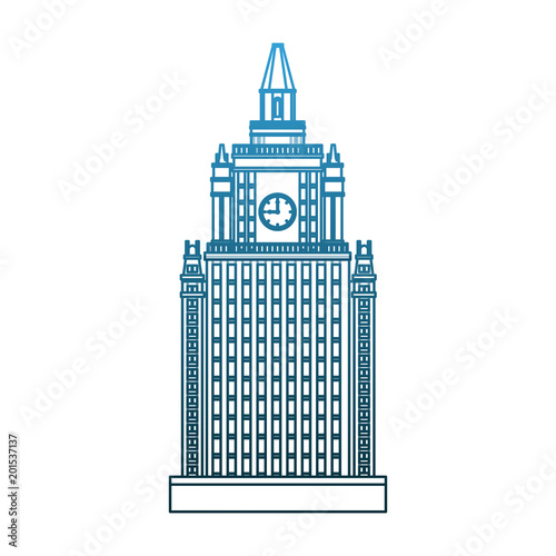 Skyscraper building isolated vector illustration graphic design