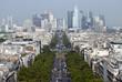 La Defense, Paris business district at the end of Avenue Charles de Gaulle.