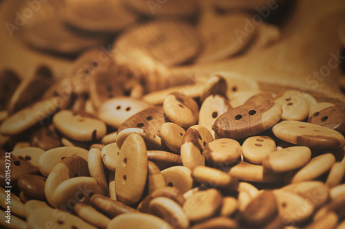 Assorti of the wood buttons. Buttons paradise - 201542732