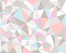 Pink And Blue Triangle Geometric   Illustration Pastel Tone Sticker