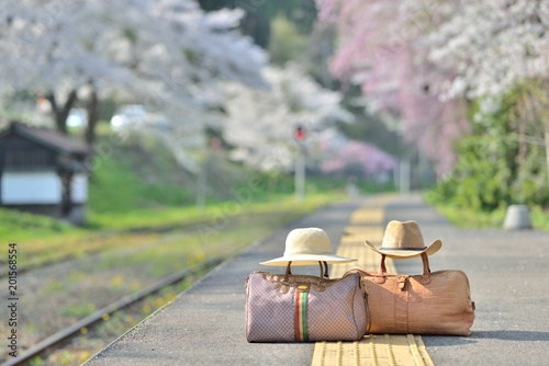 Foto Murales 春・鉄道の旅