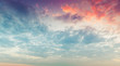 Colorful clouds in morning sky
