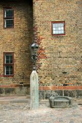 Rosenborg castle. Copenhagen, Denmark.  Fragment. Facade.