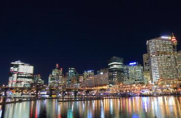 Darling Harbour Sydney night cityscape Australia