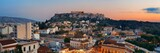 Athens skyline rooftop panorama sunset - 201625186