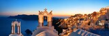 Santorini skyline night bell tower - 201625996