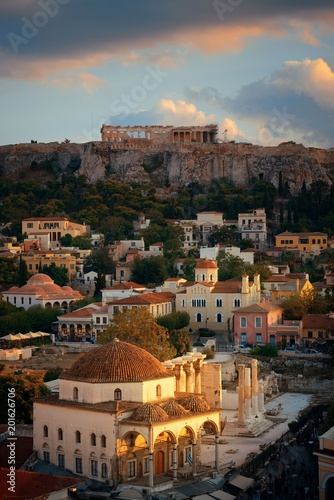 Athens skyline rooftop