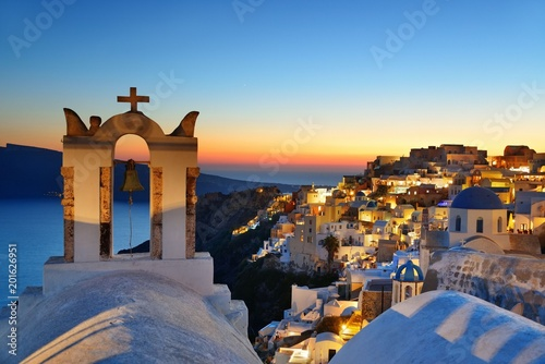Santorini skyline bell tower