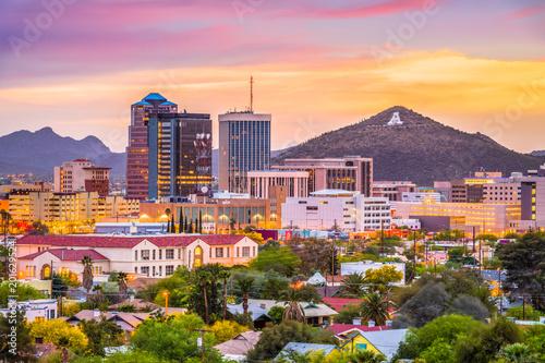 Sticker Tucson, Arizona, USA Skyline