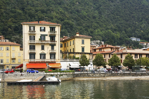 Foto Murales View of Como city. Italy