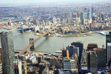 Aerial view of New York with river