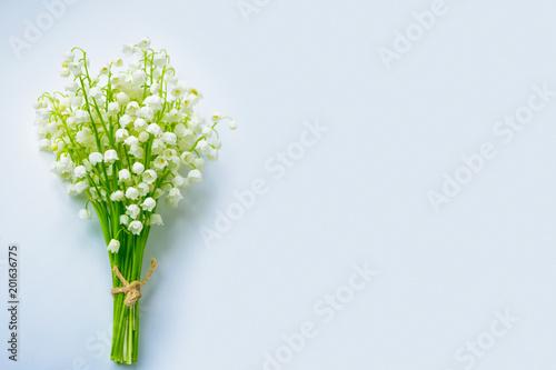 Plexiglas Lelietjes van dalen Spring landscape. flowers lily of the valley