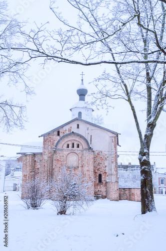 Paraskeva Pyatnitsa kościół przy Yaroslav podwórzem w Veliky Novgorod, Rosja