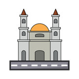 Mexico City Metropolitan Cathedral icon over white background, colorful design. vector illustration - 201637308