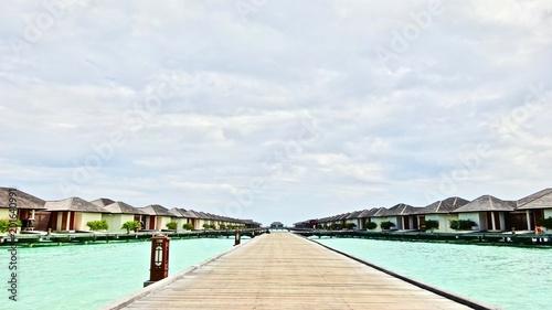 Aluminium Tropical strand Wellness Resort on the Maledives