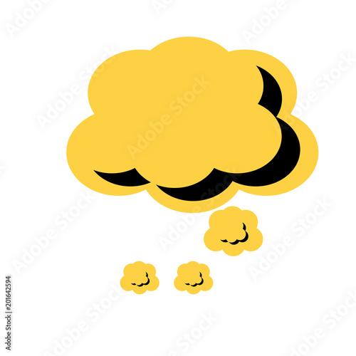 ikona chmury mowy na białym tle, kolorowy design. ilustracji wektorowych