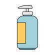 shampoo for mascots in plastic bottle vector illustration design