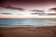 Beautiful seascape, sunset by the ocean, with retro toning