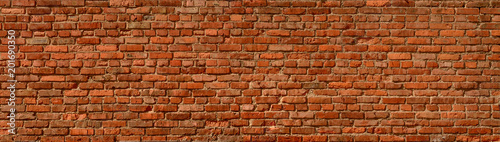 Foto Murales Brick wall panoramic background