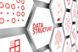 Data structure concept cell blurred background 3d illustration