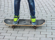 The concept of extreme sport Skateboard, a healthy lifestyle