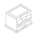 Store front. Outline isometric drawing - 201721381