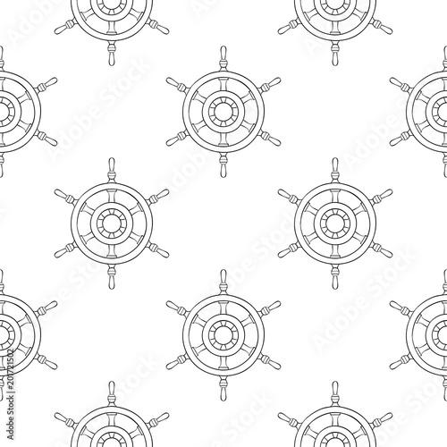 Steering wheels. Seamless pattern