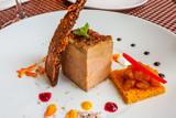 assiette gourmande festive de foie gras de canard  - 201726977