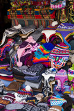 Traditional handcrafted goods on the market in Copacabana, Bolivia - 201735903