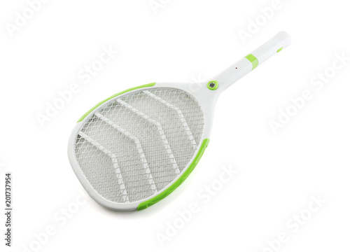 racket mosquito swetter electric isolated on white background - 201737954