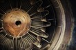 Jet engine close up photo