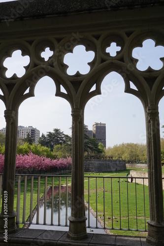 Foto Murales Parque Taconera Pamplona, en primavera