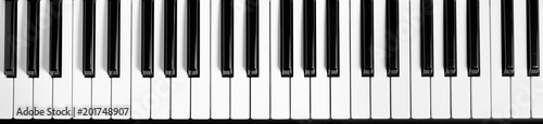 Piano keyboard. Flat top view - 201748907