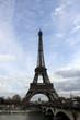 Эйфелева башня в Париже, вид с площади Трокадеро