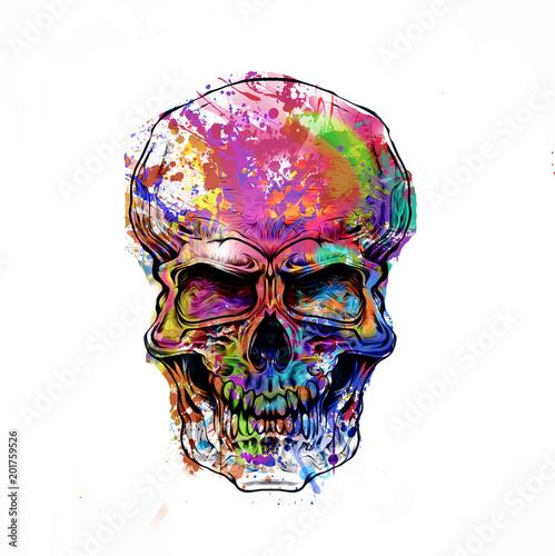 Aluminium Reznik яркий абстрактный череп