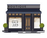 Boutique facade. Illustration of a boutique in a flat style. Vector illustration Eps10 file - 201760769