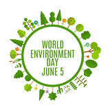 World environment day concept background. Vector Illustration - 201780716