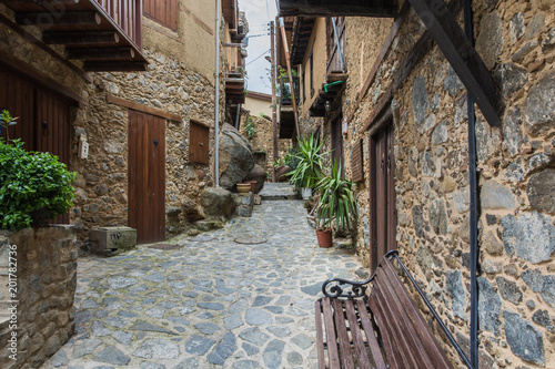 The old village is high in the mountains