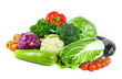 Fresh vegetables isolated on a white background. - 201785323