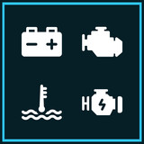 Set of 4 motor filled icons - 201807566