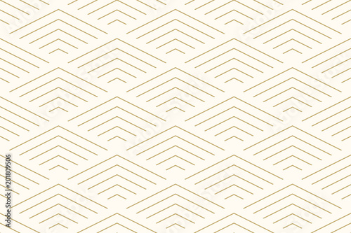 Pattern seamless abstract background chevron gold color and line. Geometric line vector. - 201809506