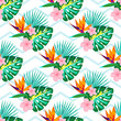 flowers on a striped background 3 - 201825392