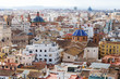 Panoramic view of urban landscape in the city of Valencia, Spain, Europe