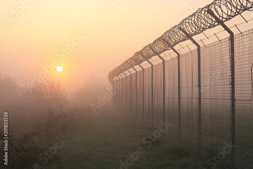 Airport Security Perimeter Fence