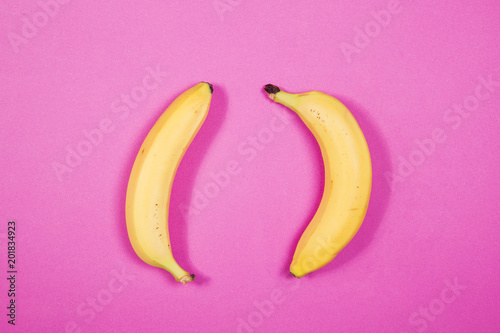 Banana on pink background - 201834923