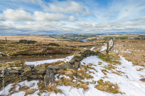 Foto Murales winter yorkshire landscape