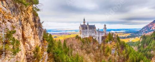 Foto Murales Neuschwanstein Castle the famous castle in Germany located in Fussen, Bavaria, Germany