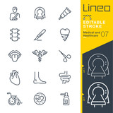 Lineo Editable Stroke - Medical and Healthcare line icons - 201842796