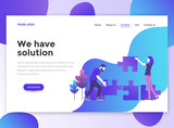 Flat Modern design of wesite template - We have solution - 201842915