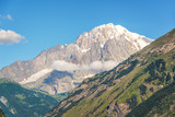 Monte Bianco (Mont Blanc) in the background view from Aosta Valley, Italy - 201844305